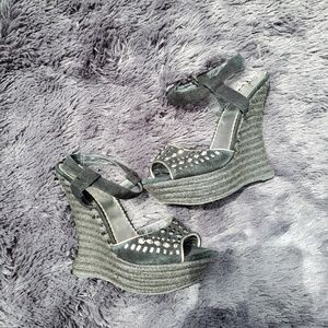 BEBE Black Studded Heels